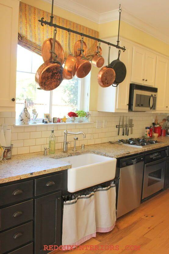 HANG POTS AND PANS IN SMALL KITCHEN OVER THE SINK