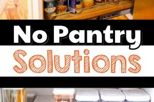 HOW TO ORGANIZE A SMALL KITCHEN WITHOUT A PANTRY
