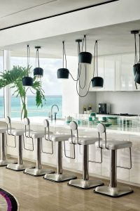 INDUSTRIAL EXPOSED CABLE KITCHEN LIGHTING IDEAS SMALL KITCHEN