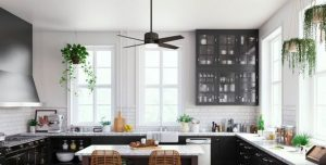 SMALL KITCHEN CEILING FANS BLACKOUT