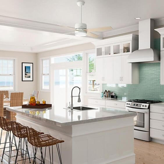 SMALL KITCHEN CEILING FANS WHITE BRIGHT