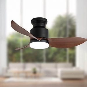 SMALL KITCHEN CEILING FANS WOODEN BLADES