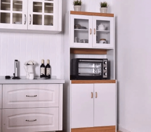 SMALL KITCHEN HUTCH WHITE AND SIMPLE