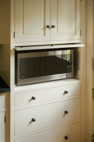 WHERE TO PUT MICROWAVE IN SMALL KITCHEN. CABINET