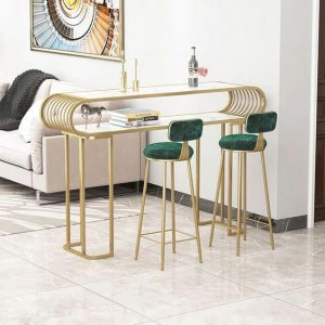 GOLD AND EMERALD SMALL KITCHEN BAR TABLE