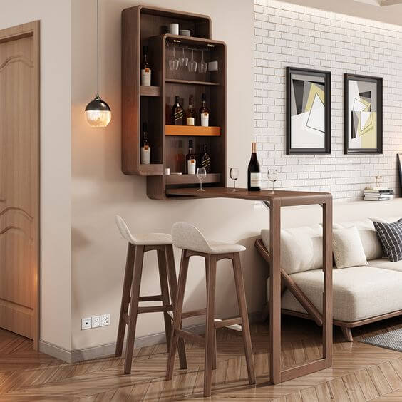 SMALL KITCHEN BAR TABLE FOLDABLE PIECE