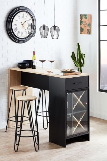 SMALL KITCHEN BAR TABLE FOR FOUR WITH CABINET