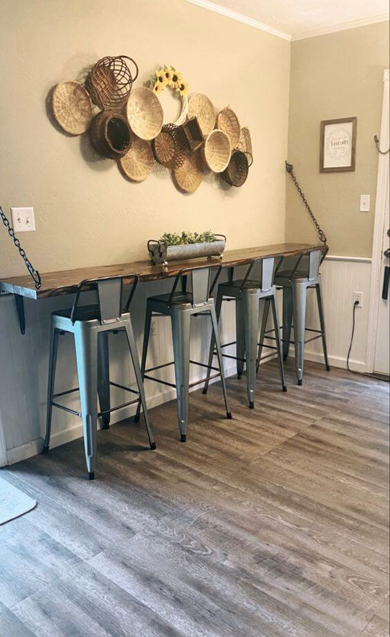 SMALL KITCHEN BAR TABLE MODERN RUSTIC SET