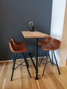SMALL KITCHEN INDUSTRIAL CORNER BAR TABLE