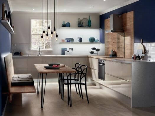 L SHAPED KITCHEN DESIGNS AND DINING SPACE FOR SMALL KITCHENS