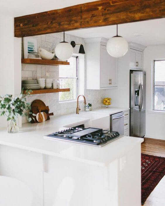 RUSTIC L SHAPED KITCHEN DESIGNS FOR SMALL KITCHENS