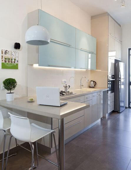 SLEEKY MODERN L SHAPED KITCHEN DESIGNS FOR SMALL KITCHENS